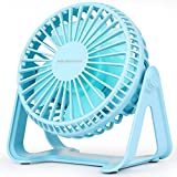 HASAGEI USB Fan, Mini Desk Fan 5 Inch Table Fan with Strong Airflow & Low Noise, Portable Cooling Fan Speed Adjustable 360° Rotatable Head for Office Home Bedroom and Desktop
