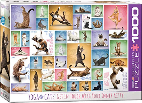 EuroGraphics Yoga Cats, 1000 Teile Puzzle, Mehrfarbig