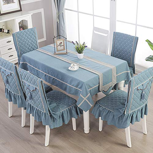 Creek Ywh high-end woonkamer in Chinese stijl salontafel tafelkleed stof rechthoekig tafelkleed, sober gouden jaar - donkerblauw, tafelvlag 30 * 230cm