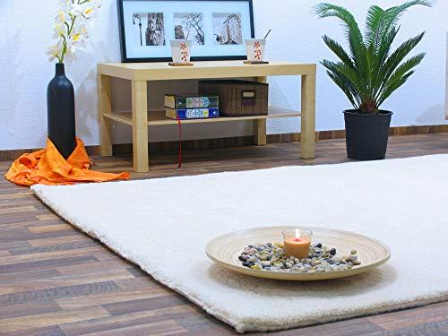 Berber Teppich natur aus 100% Schurwolle Rabat 15/15 simple Wollweiss in 27 Größen, Größe:...