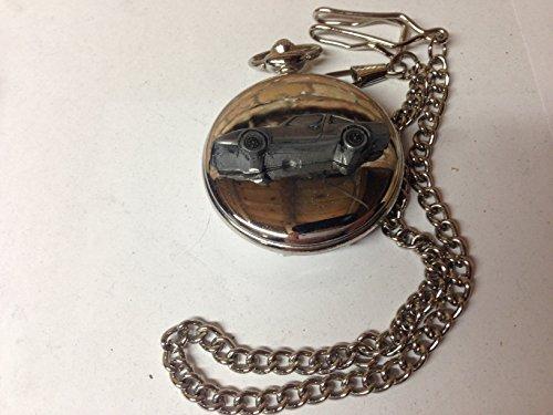 Clan Crusader ref51 emblema de coche con efecto peltre pulido caja de plata para hombre regalo cuarzo reloj de bolsillo...