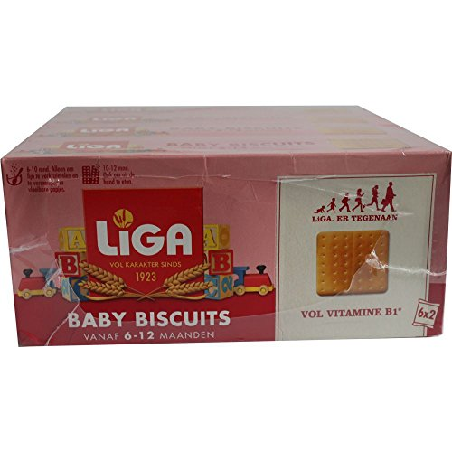 Liga Baby Biscuits 6-12 Maanden 4 x 175g Packung (Baby Kekse 6-12 Monate)