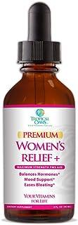 Premium Women's Relief Plus | Menopause Relief Supplement for PMS & Menstrual Cramps| Vitex Berry, Black Cohosh, Dong Qua...