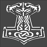 Stencil Viking Hammer Design, Plastic Reusable