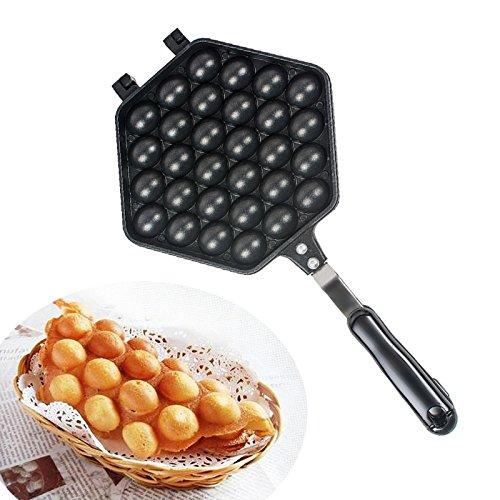 Denshine Bubble Waffle Machine Máquina de Gofres Gofrera Forma de Huevo al Estilo Hong Kong Egg Waffler Más Ligero, Más Fácil de Usar para Hogar Fiesta