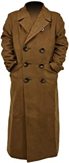 Hello-cos Brown Jacket Long Trench Suede Coats Cosplay Costume for Children (Children-M)