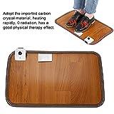 Warme Fußauflage, einstellbare elektrische Erwärmung beheiztes Brett für Office Home Fußmatte Heizung Fußwärmer Thermostat Pads 20,5 x 11,8 Zoll (EU) - 5