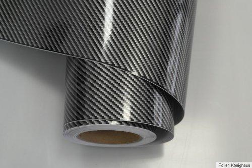 Könighaus (8,55€/m2) 2D Carbon Schwarz Folie 200 x 152 cm blasenfrei mit Anleitung (Autofolie)