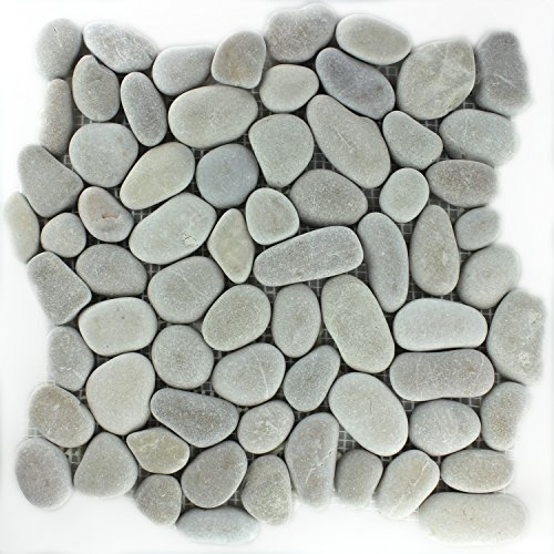 Flusskiesel Stein Mosaik Fliesen Pebble Tan