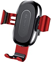 Baseus Qi Wireless Fast Charger Gravity Car Mount Quick Charge Car Holder Stand for iPhone XS Samsung S9 Red