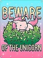 Beware Of The Unicorn ティンサイン ポスター ン サイン プレート ブリキ看板 ホーム バーために