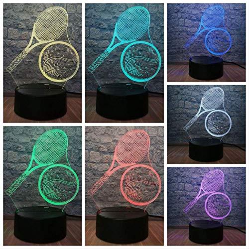 3D Nachtlicht 3D USB Nachtlicht Fantasie Atmosphäre Tisch LED Licht Sport Tennis Junge Raumdekoration Kinderspielzeug Weihnachtsgeschenke MXLCK