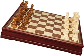 """Wooden Chess Set 12""""x12"""" inch Board Chess Standard Travel International Board Game with Crafted Chessmen"""