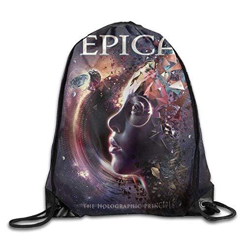 NA Epica The Holographic Principle Unisex Drawstring Gym Sack Ort Bag