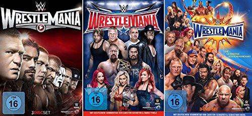 WWE - Wrestlemania 31-33 im Set - Deutsche Originalware [9 DVDs]