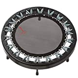 Ultimate Rebounder by Rebound Air | Foldable Mini Fitness Trampoline for Adults & Kids | Quarter-Fold Design w/ Heavy Duty Springs for Indoor/Outdoor Exercise | Includes Workout DVD & Trolley