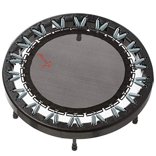 Ultimate Rebounder by Rebound Air | Foldable Mini Fitness Trampoline for Exercise | Quarter-Fold (Black)