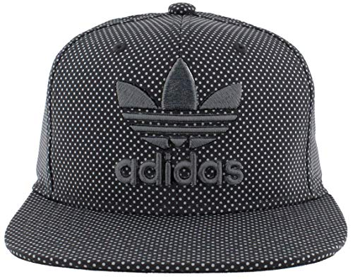 adidas Men's Originals Snapback Flat Brim Cap, Black/Grey, One Size
