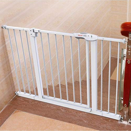 Baby Gate Dog Fence Pole Stair Railing Child Safety Door Baby Fence Pet Door Bar Free Punch (Couleur: High76CM, Taille: 265-274cm)