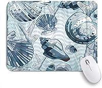 NINEHASA 可愛いマウスパッド ブルースカイイエローまばゆい太陽ミステリアスオーシャンホワイト灯台サンレイズサンセット ノンスリップゴムバッキングコンピューターマウスパッドノートブックマウスマット