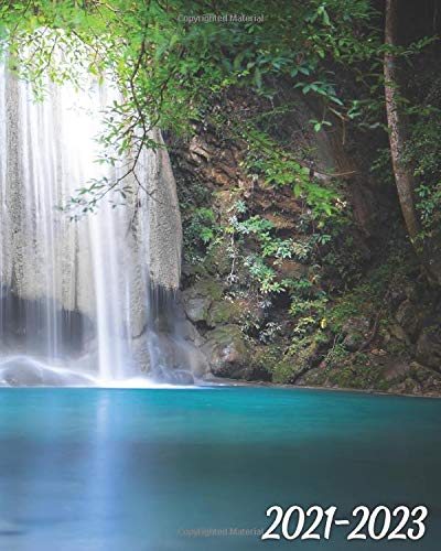 2021-2023: Erawan Cascade Waterfall Three Year Monthly Planner, Organizer & Schedule Agenda - 36 Month Inspirational Calendar with Vision Boards, Notes, To-Do's & More - Tropical Rain Forest, Thailand