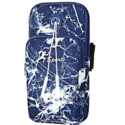 Borsa braccio sportiva, Universal Bounce Free Gym Armband Custodia cellulare Custodia foro auricolare iPhone Xs Max Xs X 8, Galaxy S10 Plus   S10   Nota 9   S9   S8   S7  , Huawei e LG (Fiore#6)