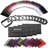 Neewer 40-en-1 Filtre ND Carré Gradué Compatible avec Cokin P Série Bundle pour DSLR Verre HD Cadre Fileté en Aluminium avec...