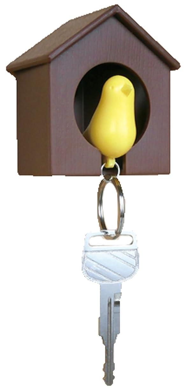 会計自転車レポートを書く小島通商 Sparrow Key Ring (スパロウキーリング) イエロー/ブラウン_m