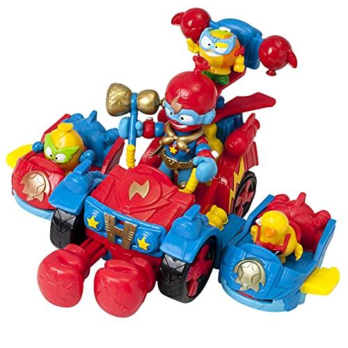 SUPERTHINGS Balloon Boxer – Gran vehículo con dos vehículos acoplables, 3 SuperThings y 1 Kazoom Kid exclusivo