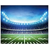 Allenjoy 10X8ft Football Field Backdrop Newborn Children Photography Props AuditoriumLight Themed Super Bowl Night Spotlight Photography Background Baby Shower Decorations Photo Studio Props Favors