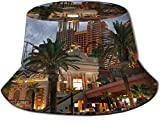 Unisex A Magnificent City Print Travel Bucket Hat Summer Fisherman Cap Sun Hat-American Urban Wallpaper