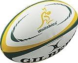Gilbert Australie International Rugby Replica Balle, Blanc, 5