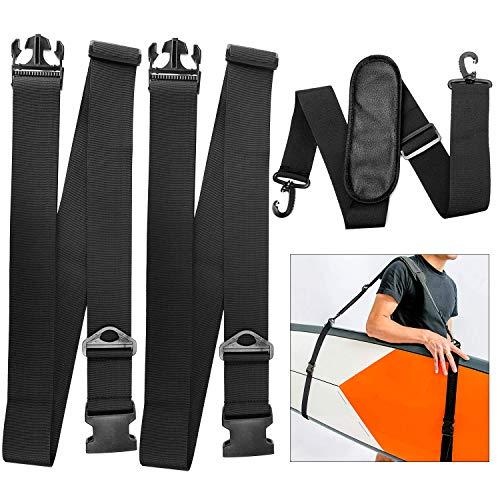 TOBWOLF Kayak Carrying Strap, Adjustable Paddle Board Carry Sling, Non-Slip Comfortable Canoe Storage Sling, Surfboard Shoulder Strap Surfboard Carrying Belt