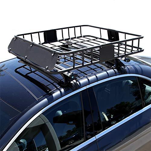 LT Sport Roof Rack Basket Cargo Carrier Storage Luggage Holder Top Heavy Duty Mounting