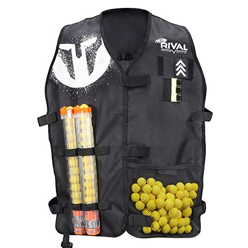 Nerf Rival Official Nerf® Tactical Vest Licenced Jacket Medium Large Size - Rival Phantom Corps Tactical Vest for Nerf Guns with Adjustable Straps. Must Have Gear for Kids, Teenagers, Adults