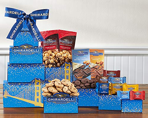 Chocolate Gift- Deluxe Ghirardelli Chocolate Gift Tower Shipped With Ice To Keep Cool by Wine Country Gift Baskets