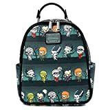 Loungefly Universal Monsters Chibi All Over Print Womens Double Strap Shoulder Bag Purse