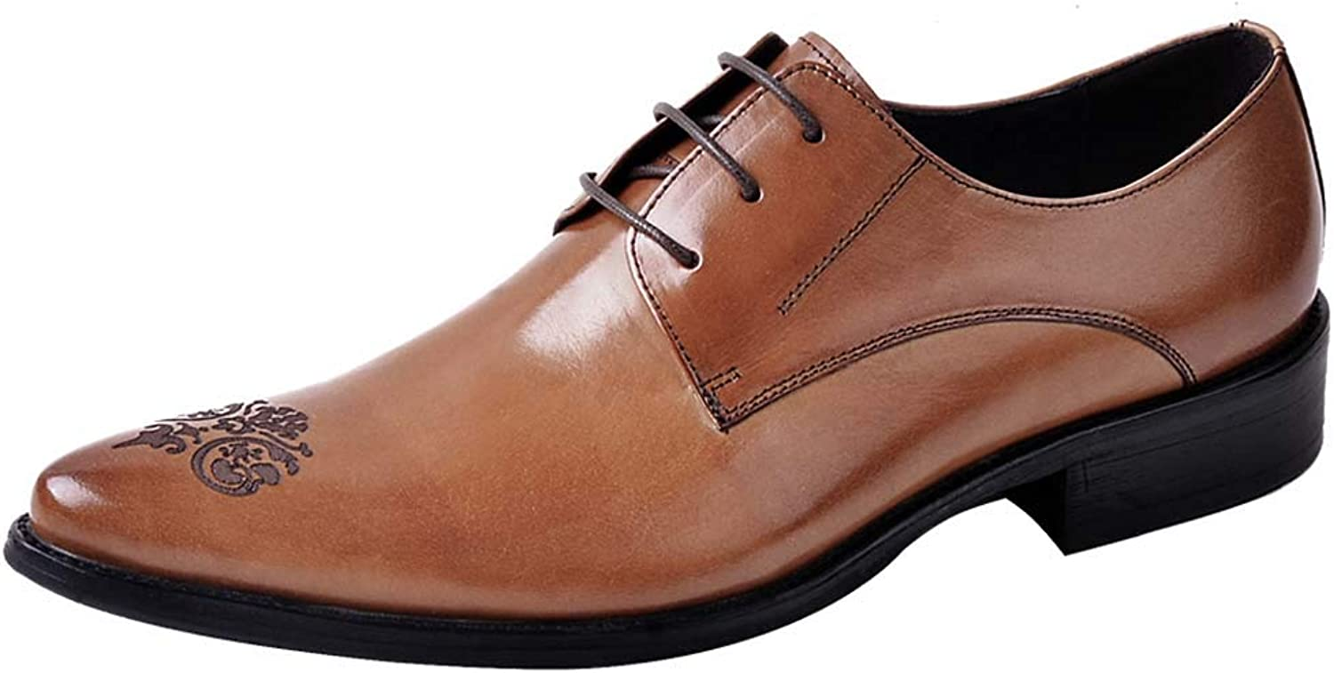 Men's Business Oxford shoes Breathable Brock Carved Dress shoes,Brown,44