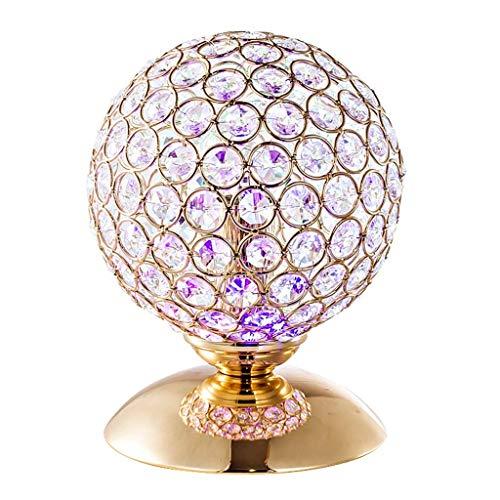 KAISIMYS Lámpara de Mesa de Cristal, Lámpara de Mesa Delicada Creativa Oro Plata Orbe Forma de Copa de Vino Base de Cobre Lámpara de Mesa Bar Sala de conciertos Atmósfera Lámpara de Mesa Iluminación