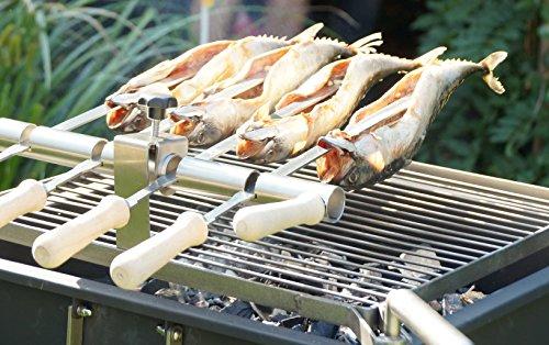 Steckerlfisch-Grill Steckerlfisch Grillaufsatz - Fischgrill Aufsatz