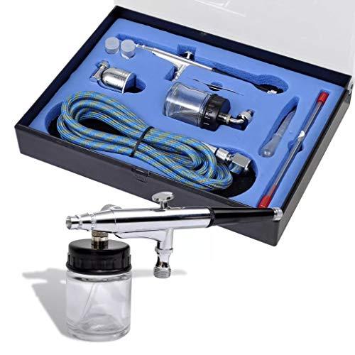 FZYHFA - Juego de aerógrafos con tarro de cristal (0,2/0,3/0,5 mm, boquillas para decoración de tartas, modelo, cuerpo y coche)