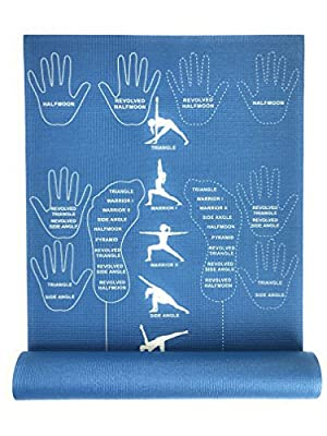 CopyCat Yoga Instructional and Educational Yoga Mat