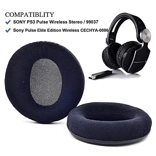 1 paar vervangende oorkussens Oorkussen Kussen Kussen voor Sony Pulse Elite Edition Draadloze CECHYA-0086 Oor Koptelefoon hoofdtelefoon, Velour