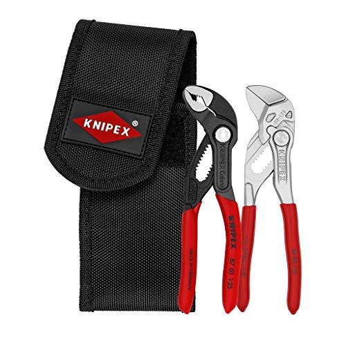 KNIPEX 00 20 72 V04 - Juego de alicates mini en portaherramientas para el cinturón