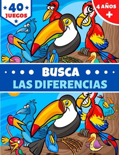 BUSCA LAS DIFERENCIAS: para niños 4 años+ | libro de 40 juegos a todo...