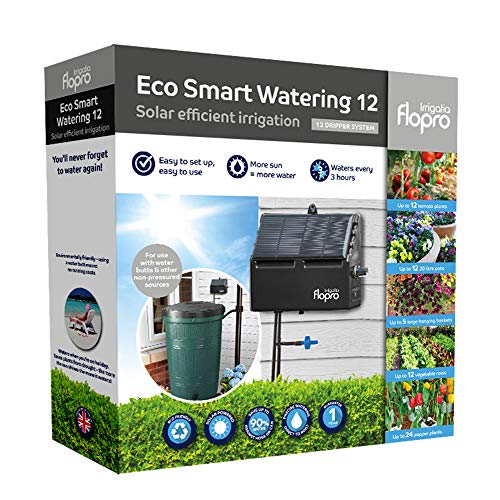 Irrigatia Flopro Eco Smart Solar 12 Dripper Watering System, Multi-Coloured