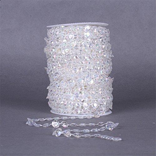 99ft iriserende kristallen slinger diamant acryl kraal bruiloft versieren Chain-AB kralen