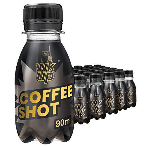 MELITTA 30 Flaschen WKUP Coffee Shot je 90ml | Energy Drink aus 100% natürlichem Koffein hochdosiert | Power Coffee Shots 30x 90 ml with Pure Natural Coffein | Kaffee Energie Booster
