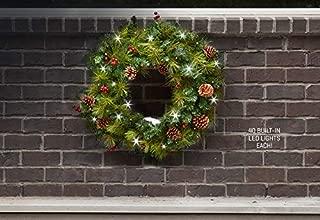 Sharper Image Cordless Pre-Lit Indoor/Outdoor Wreath