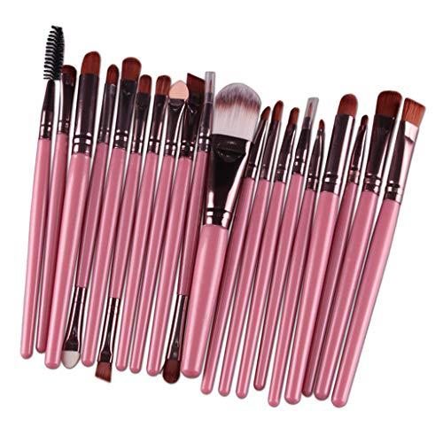 CUTICATE Ensemble de 20 Pinceaux Maquillage Cosmétique Professionnel Brush Beauté Maquillage Brosse Makeup - Café rose